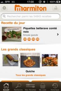 Marmitton 200x300 Dossier : faire la cuisine grâce à son iPhone / iPad