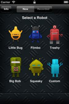 My robot voice Les bons plans de lApp Store ce samedi 21 avril 2012