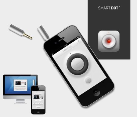 SmartDot Demo Nouveauté App4Shop : SmartDot, le pointeur laser pour iPhone 4 et 4S