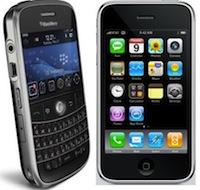 iPhone BlackBerry Apple plebiscite son iPhone pour les entreprises !