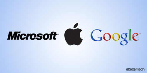 microsoft apple google Apple tentée par un rachat de Twitter ?