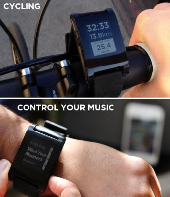 pebble fonction 1 Pebble: la montre du futur existe déjà... Et se connecte à votre iPhone !