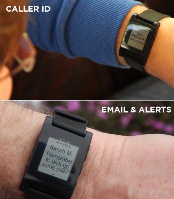 pebble fonction 2 Pebble: la montre du futur existe déjà... Et se connecte à votre iPhone !