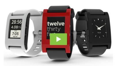 pebble video Pebble: la montre du futur existe déjà... Et se connecte à votre iPhone !