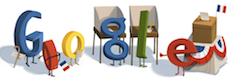 Google Doodle  Google aux couleurs des présidentielles françaises