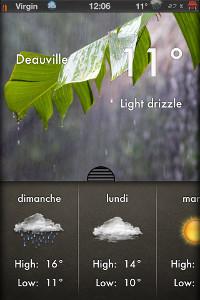 IMG 0705 Test de Weather 2X : Une bien belle météo ! (0,79€)