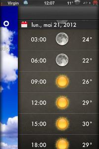 IMG 0706 Test de Weather 2X : Une bien belle météo ! (0,79€)