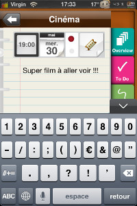 IMG 07832 Test de Plannerd   (To do, Notes and More) : un excellent agenda multifonctions...(2,39€)