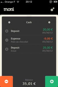 IMG 2098 200x300 Test de Moni: le compagnon de vos dépenses (0,79€)