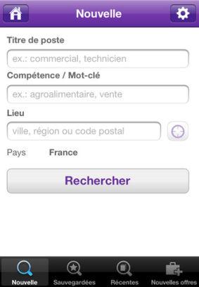 Monster 2 Emplois Monster (Gratuit) : Lapplication pour trouver un emploi grâce à votre iPhone !