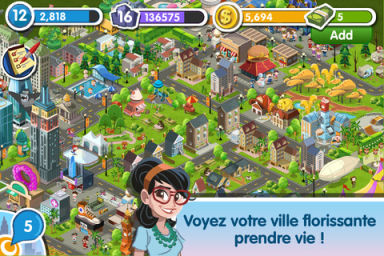 MyTown2 1 MyTown 2 (Gratuit) : Construisez la ville de vos rêves !