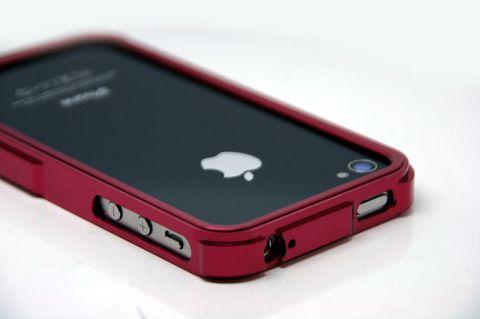 Red De nouveaux Bumpers Aluminium pour iPhone 4/4S à découvrir sur App4Shop !