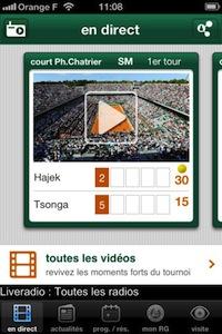 Roland Garros 1 Lapplication Roland Garros 2012 : jeu, set et match !