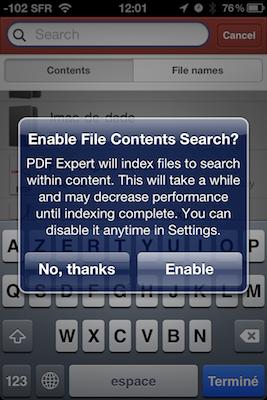 TestPDFExpertiPhon 029 Test de PDF Expert   Gestion, et lecture des PDF sur votre iPhone !
