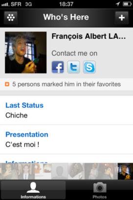 Whoozer 3 Whoozer (gratuit) : Le nouveau réseau social de proximité !