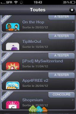 appvip screen 1 LAppli VIP Premium sans publicité est disponible gratuitement !