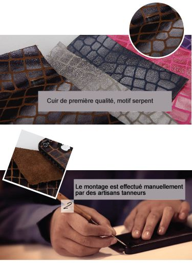 cuir artisan motif 3 nouvelles coques en cuir véritable pour iPhone 4/4S à découvrir sur App4Shop