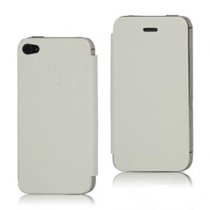 cuir blanc Nouveauté App4Shop : Les façades arrières à clapet pour iPhone 4 et 4S !