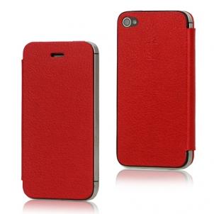 cuir rouge Nouveauté App4Shop : Les façades arrières à clapet pour iPhone 4 et 4S !