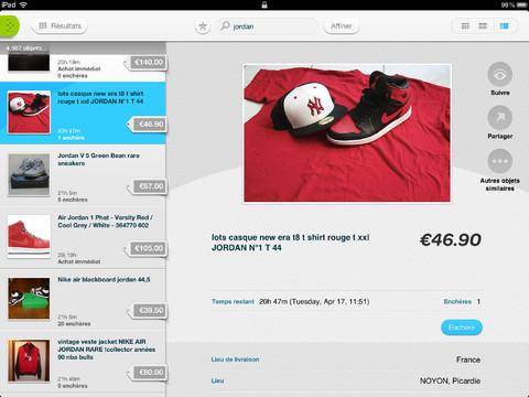 eBay iPad Mise à jour de lappli eBay sur iPad (gratuit)