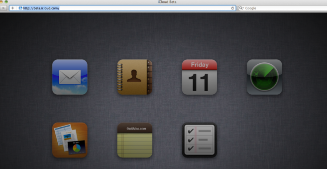 icloudbeta iCloud Beta révèle les applications Notes et Rappels pour le web