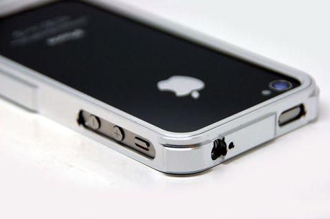 silver De nouveaux Bumpers Aluminium pour iPhone 4/4S à découvrir sur App4Shop !