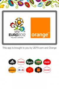Application officielle UEFA EURO 2012 avec Orange 200x300 Dossier : les applications pour suivre lEuro 2012 de football