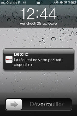 Betclic 1 Avec Betclic, Faites vos paris sur iPhone (Bonus spécial de 100€ offerts !)