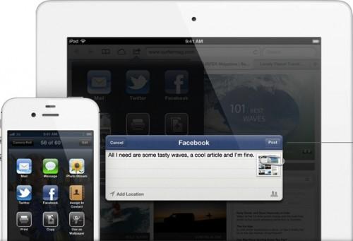 Facebook iOS61 500x341 Récap Keynote : Tout savoir sur le nouvel iOS6 !