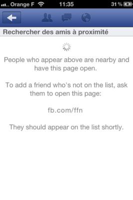 Facebook localisation amis