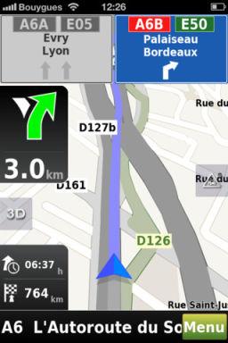 Mappy GPS 3 Mappy GPS V2 : Un GPS gratuit de qualité pour iPhone !