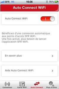Sfr Wifi Auto Connecte1 SFR WiFi : lapplication disponible, vous facilite la connexion aux hotspots WiFi