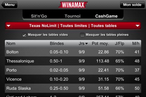 Winamax 3 Winamax Poker (Gratuit)   La référence du poker en ligne, aussi sur iPhone !