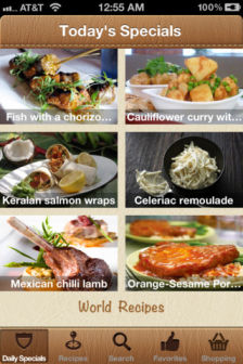 World recipes Les bons plans App Store de ce mercredi 27 juin 2012