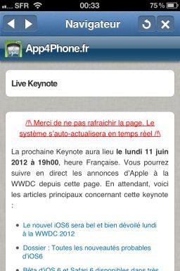 keynote 3 Suivez le live de la Keynote dApple sur App4Phone, mercredi dès 19h00