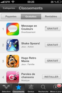 photo 1 iOS6 : Découverte de la nouvelle interface de lApp Store !