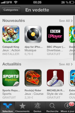 photo 3 iOS6 : Découverte de la nouvelle interface de lApp Store !