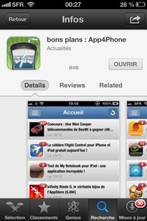 photo 4 iOS6 : Découverte de la nouvelle interface de lApp Store !