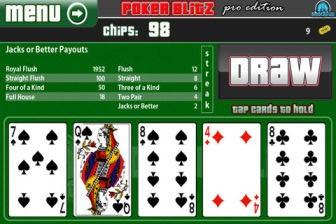 Poker blitz e1343242300657 Les bons plans de lApp Store ce mercredi 25 juillet 2012
