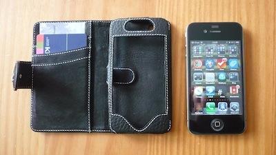 TestEtuiPortefeuille 009 Test de létui Portefeuille pour iPhone 4 de Issentiel