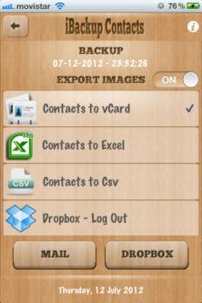 iBackup contacts Les bons plans de lApp Store ce vendredi 20 juillet 2012