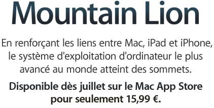 moutain lion 1 Mac OSX Mountain Lion rugira t il la semaine prochaine ?