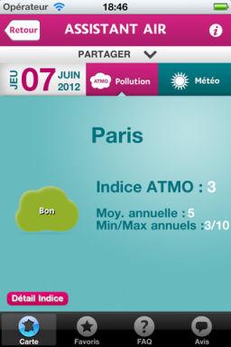 Assistant Air 4 Assistant Air (Gratuit) : Météo et Écologie sur votre iPhone !