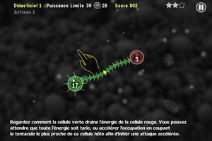 IMG 1469 Test de Tentacle Wars : Défendez votre microcosme des cellules ennemies...(0,79€)