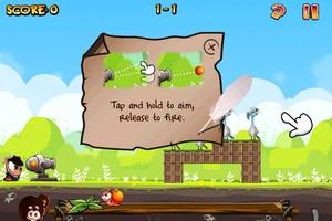 IMG 1493 Test de Worm Vs Birds : un sympathique Angry Birds like...(0,79€)