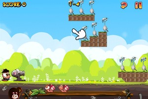 IMG 1494 Test de Worm Vs Birds : un sympathique Angry Birds like...(0,79€)