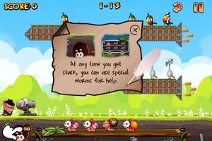 IMG 1497 Test de Worm Vs Birds : un sympathique Angry Birds like...(0,79€)