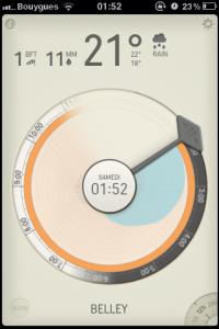 IMG 1513 200x300 Test de Partly Cloudy, une autre manière de consulter la météo (1.59€)