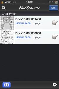 IMG 1523 Test de ABBYY FineScanner : Scannez et classez aisément vos documents...(2,39€)