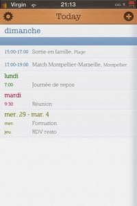 IMG 1647 Test de Today Calendar : Un calendrier plus que minimaliste...(1,59€)